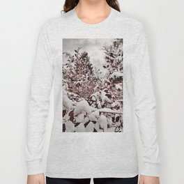 Fresh Snow On Red Leaves Long Sleeve T-shirt