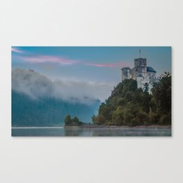Niedzica Castle Sunrise Landscape Canvas Print