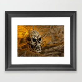Skull And Sackcloth Framed Art Print