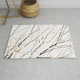 Snowy birch twigs and leaves #decor #society6 #buyart Rug