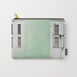 Mint green house in Caribbean Carry-All Pouch