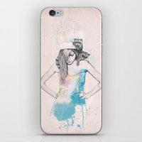 raccoon iPhone & iPod Skins featuring Raccoon Love by Ariana Perez