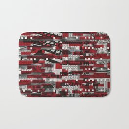 Nothing Is Accomplished (P/D3 Glitch Collage Studies) Bath Mat