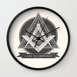 I am illuminati Wall Clock