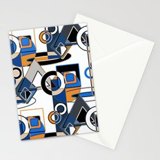 Abstract pattern with bold geometric shapes on a white background. Stationery Cards