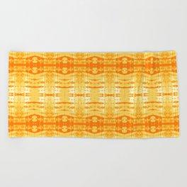 Satin Shibori Yellow Beach Towel