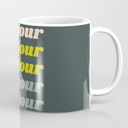 Bonjour in Pretty Pastels Coffee Mug