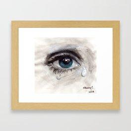 Crying eye Framed Art Print