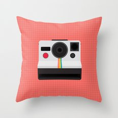 Polaroid One Step Land Camera Throw Pillow
