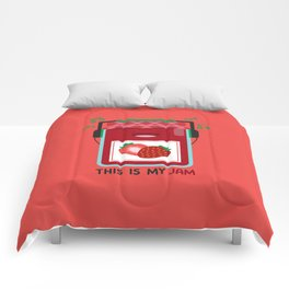 This is My (Strawberry) Jam Comforters