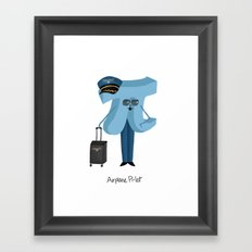 Airplane Pi-lot Framed Art Print