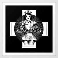 nurse Art Prints featuring Nurse by Trine Paulsen