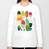 pills Long Sleeve T-shirts featuring Jagged little pills by Picomodi