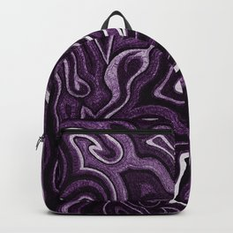 Abstract #1 - I - Purple Backpack
