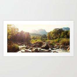 RIVER IN NOVEMBER Art Print