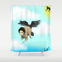 Butt wings Shower Curtain
