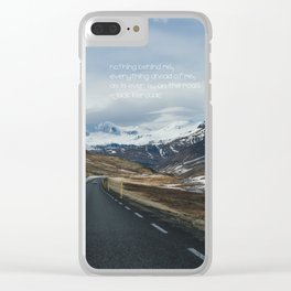Iceland, on the road Clear iPhone Case