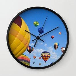 Vibrant Hot Air Balloons Wall Clock