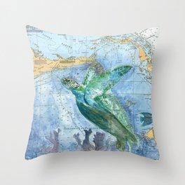 Turtle 4A (Bahamas) Throw Pillow