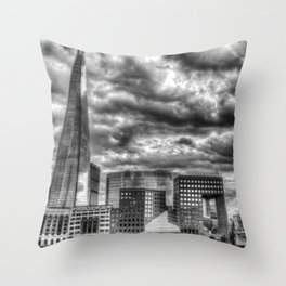 The Shard and South bank London Throw Pillow