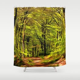 Forest Walk in Spring Shower Curtain