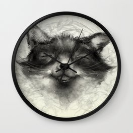 Cheeky Fox Wall Clock