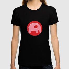 Pink Valentine Elephant T-shirt