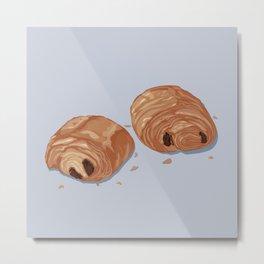 Deux pains au chocolat blue Metal Print