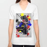 vader V-neck T-shirts featuring VADER by vicotera