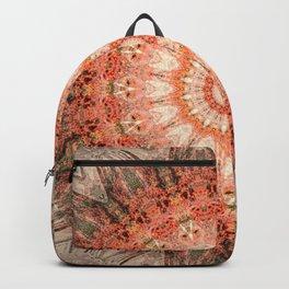 Vintage Bohemian Peach Mandala Backpack