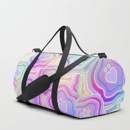 'I Love You Umlaut' Valentine's Pattern - Morning Iridescence Duffle Bag