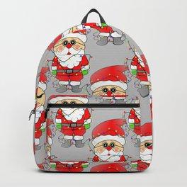 Whimsical Santas - Merry Christmas Backpack