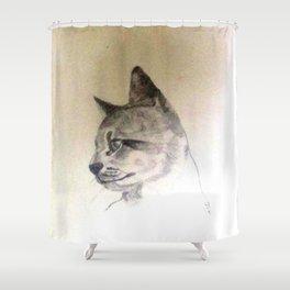 Pet Cat In Pencil Shower Curtain