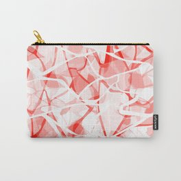 White red abstract Carry-All Pouch