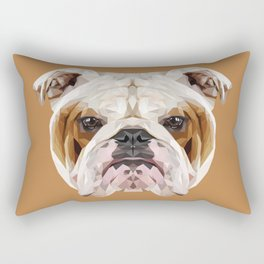 English Bulldog // Natural  Rectangular Pillow