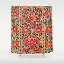 Kermina Suzani Uzbekistan Print Shower Curtain