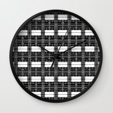 Black and White Brick Wall Clock