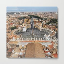 View of Rome from St. Peter's Lanterna Metal Print