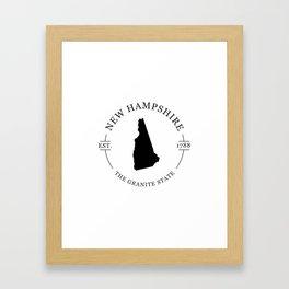 New Hampshire - The Granite State Framed Art Print
