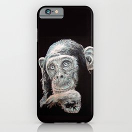 a Jane Goodall quote - black iPhone Case