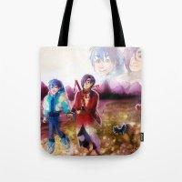 dmmd Tote Bags featuring dmmd beach by Mottinthepot