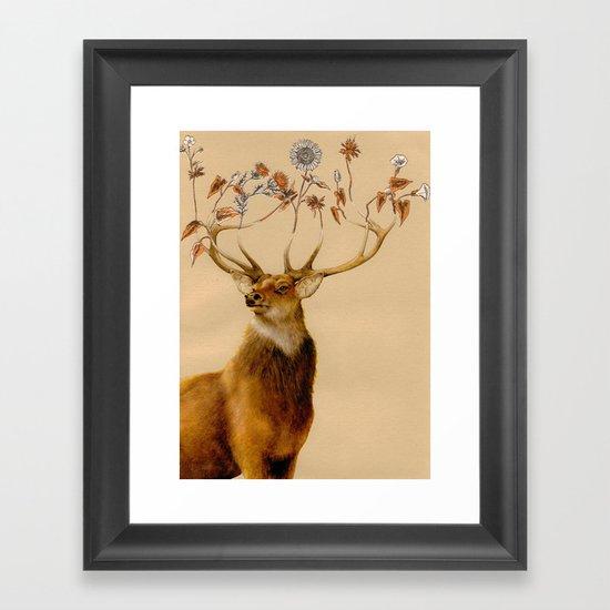 Holistic Horns Framed Art Print