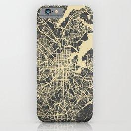 Baltimore map yellow iPhone Case