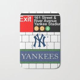 NYC Yankees Subway Bath Mat