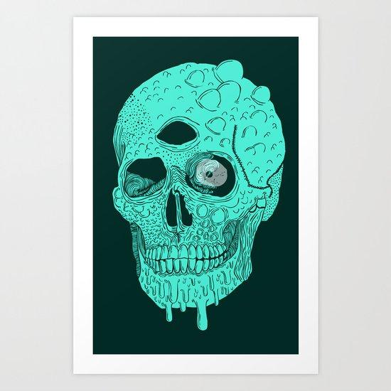 Beetle Skull  Art Print