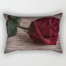 Rose on the music book Rectangular Pillow