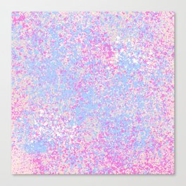 Abstract hand painted pink teal watercolor splatters Canvas Print