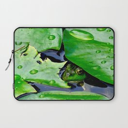 Peek  A Boo frog Laptop Sleeve