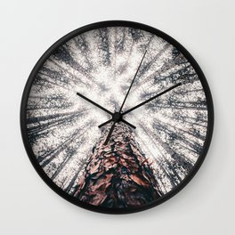 Beneath the trees Wall Clock