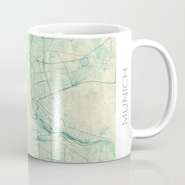 Munich Map Blue Vintage Coffee Mug